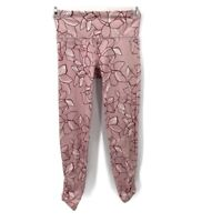 JoyLab Pink Floral Ruched Athletic Leggings Womens Size XS
