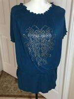 Avenue Knit Top - Size 18/20 - Silver Embellishment