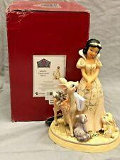 New ListingJim Shore Disney White Woodland Snow White And Forrest Friends 6000943 Broken