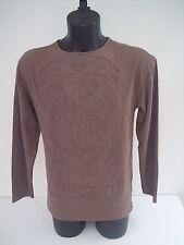T-shirt Roberto Cavalli,colore biscotto pantera ricamo in rilievo,tg 46