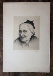1923 Old Lady Etching Vieille Arlesienne Arles De Herain Limited 2/60 45x37cms
