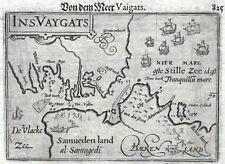 WAIGATSCH Russland Landkarte Bertius um 1600 Selten Original!