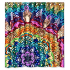 "Shower Curtain Waterproof Polyester Fabric Beautiful Mandala Bathware 66"" x 72"""