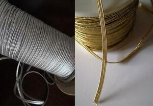 3mm wide Flat Elastic crafts sewing cards Gold or Silver 3 metres & ODD LENGTHS