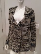 Free people coffee combo double breasted cardigan sweater  jacket sz M NWT $168