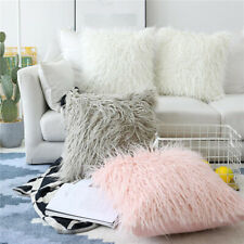 Fluffy Faux Fur Pillow Case Soft Plush Cushion Cover Throw Sofa Bed Home Decor