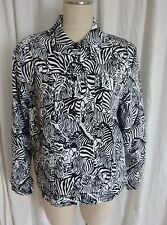 ALFRED DUNNER ZEBRA~BK&WT~LIGHT WEIGHT~WILD~SIZE 14~CLEANED JACKET