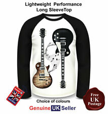 Guitarra Gibson Les Paul T shirt, manga larga, Guitarra Gibson T shirt, top para hombre,