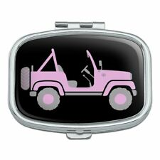 Pink 4x4 Truck Off-Road Rectangle Pill Case Trinket Gift Box