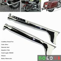 Details about  /500mm Long Motorcycle Double Exhaust Muffler Pipe Silencer For Yamaha R1 R3 R6