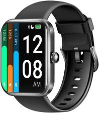 Reloj inteligente letscom para mujer hombre, 1.69 pulgadas de pantalla táctil SmartWatch, Fitness TR
