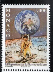 2019 Monaco 50 Years First Moon Landing MNH