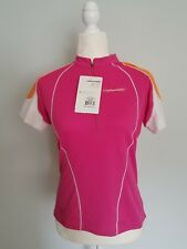 Cannondale Women Medium Pink Orange Cycling Classic Jersey Top 1/2 Zip New