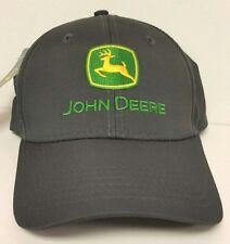 NEW John Deere Gray Polyester Ripstop Performance Cap LP53255