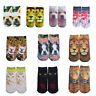10 Pairs Unisex Dog Lion Cat Socks Cotton 3D Printed Animal Low Cut Ankle Socks