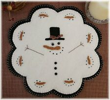 PATTERN!~*January Thaw*~Snowman Candle Mat/Penny Rug~*PATTERN!*