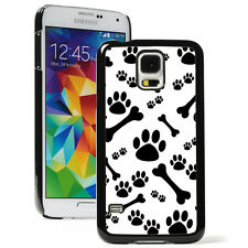 For Samsung Galaxy S8 S7 S5 S6 Edge Hard Case Cover 139 Paw Prints and Dog Bones