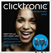 Clicktronic Casual 1,0m HDMI auf DVI-D Kabel inkl. Stereo Audio 70137 1m