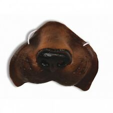 Deluxe Brown Dog Nose Puppy Latex Rubber Canine Animal Costume Mask Toy Funny