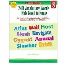 240 Vocabulary Words Kids Need to Know: Grade 3: 24 Ready-to-Reproduce Packets I