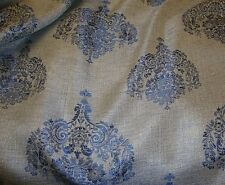 """upholstery Drapery 55"""" Alessio Midnight Damask Metallic Sparkle home Fabric BTY"""