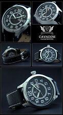Observation XXXL 47mm Aviator Cavadini Watch TAG / Date Easy to Read 10 Bar