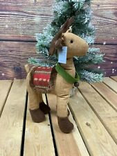 More details for gisela graham reindeer plush christmas ornament