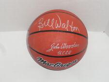 JOHN WOODEN BILL WALTON SIGNED F/S COLLEGE BASKETBALL UCLA BRUINS JSA LOA