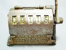 ANTIQUE AMERICAN COUNTING MACHINE MECHANICAL LEVER 5 DIGIT COUNTER PATD.1897