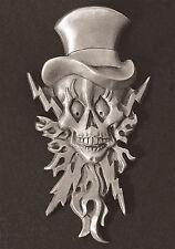 Lightning Skull  Dash Plaque, Guitar, Rat Rod Emblem #6