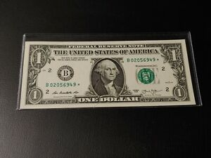 2013 B series $1 DOLLAR STAR NOTE B02056949* NEW YORK - TOTALLY UNCIRCULATED!