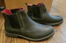 New GBX Panther Black Chelsea Leather Pull on Ankle Boots Mens Size 13M