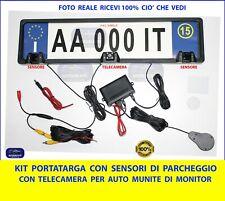 Sensori di Parcheggio targa con Portatarga e Allarme sonoro regolabile sensore