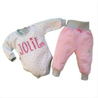 Baby Girls Outfit Set Bodysuit & Trousers *100% Cotton **0-3/3-6/6-9/9-12 Months