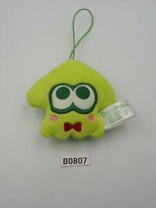 "Splatoon Inkling B0807 Squid Sanrio Keroppi 2018 Strap mascot 3"" Toy Plush Japan"
