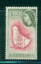 BARBADOS 246 SG300 MH 1956 $1.20 QEII Defin Map of Island Cat$33