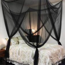 Mosquito Net 4 Corners Post Bed Canopy For Twin Full Queen King Size Black Us