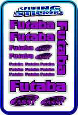 FUTABA SERVO RADIO RX TX 2.4G FLIGHT REMOTE CONTROL STICKERS FASST PURPLE BLACK