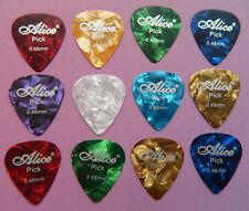 12 x Alice Light Gauge Celluloid Guitar & Ukulele Picks / Plectrums 0.46mm