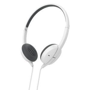 Hama Headphones Advance White On-Ear Stereo - Three Button Control Flat Cable