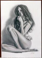 A3 ORIGINAL Nude Woman pencil drawing
