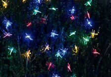 40 LED Dragonfly String Lights 19ft w Remote Solar Panel Garden Party Holiday