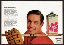 1969 Pure-Pak Vintage Original Print AD with JEAN BELIVEAU Hockey Canadien FR