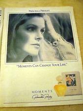 PUBBLICITA' ADVERTISING WERBUNG 1991 MOMENTS BY PRISCILLA PRESLEY PROFUMO (G41)
