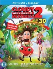 Cloudy WIth A Chance Of Meatballs 2 (2D Blu-ray, 2014) 3D Disc not included.