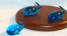 Whale Blue both Light & Dark Tones 0205A Great Ocean Mammals ArtGlass Mini 6 pc.
