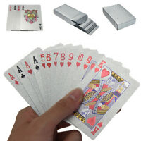 Silver Plated Poker Playing Cards Deck Foil Waterproof Game Card Table Game