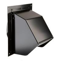 6 Inch Duct Vent Wall Cap Black Exhaust Fan Range Hood Ventilation Back Damper