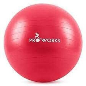 RED Anti-Burst Fitness Ball 65cm with Pump Exercise Yoga Swimming Stability PRO