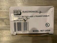Mg Electronics 24 Vac Class 2 Transformer 50 Va With Led Mgt2450p